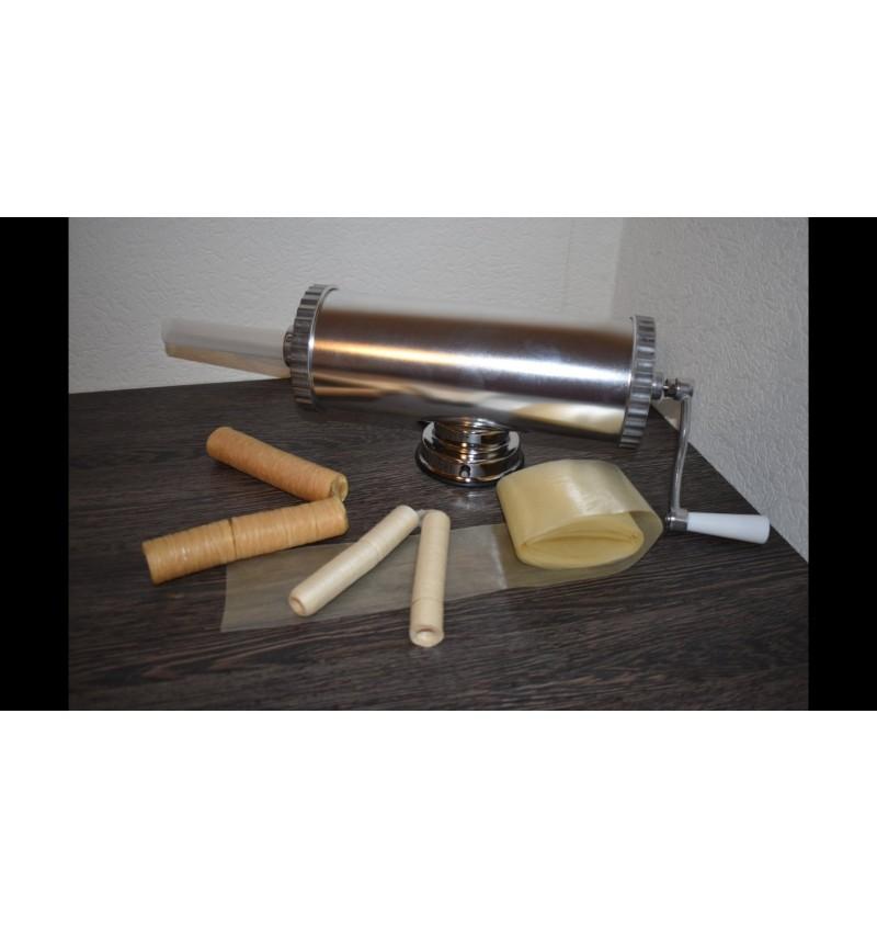 Шприц колбасный  горизонтальный на 2,5 литра + пластиковые насадки НОВИНКА