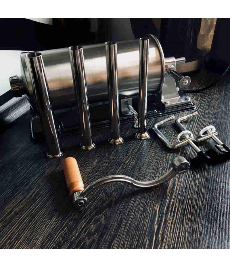 Шприц колбасный  горизонтальный на 3 литра с металлическими насадками