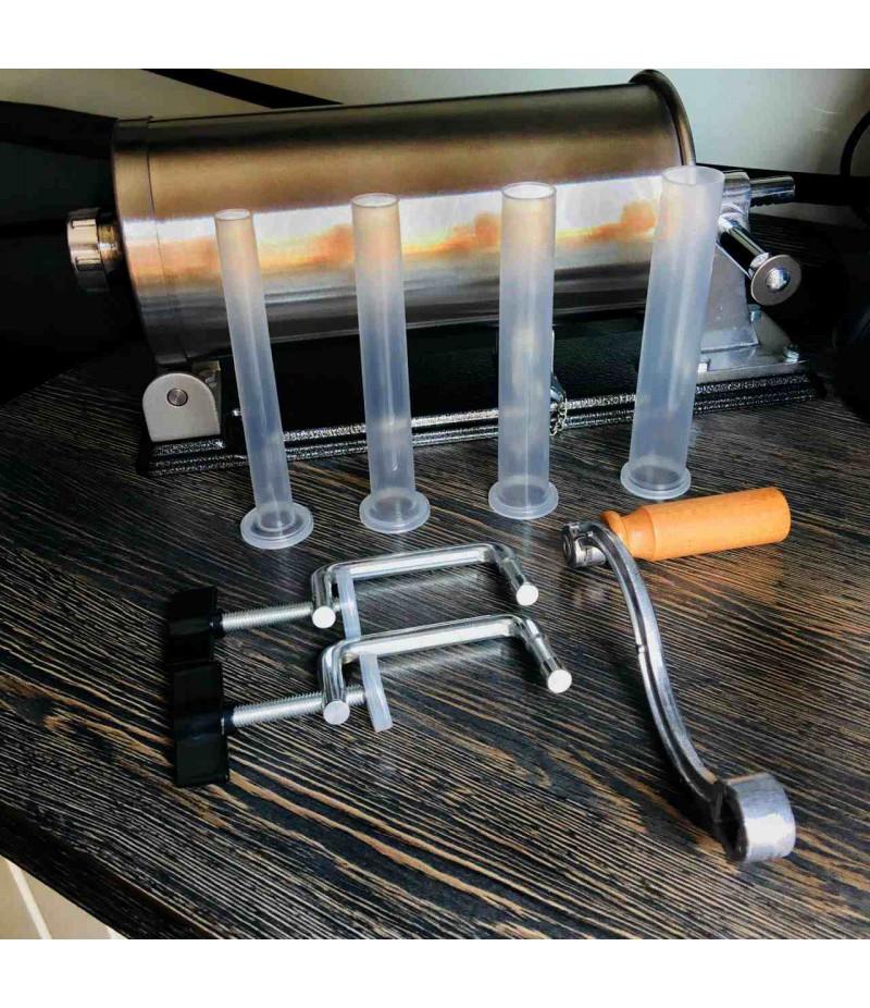 Шприц колбасный  горизонтальный на 3л+ комплект насадок