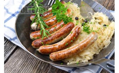 Колбаски для детей, домашние с тыквой и брюссельской капустой Полезное диетическое блюдо