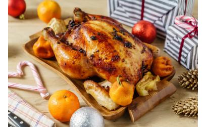 Новогодний цыпленок с мандаринами